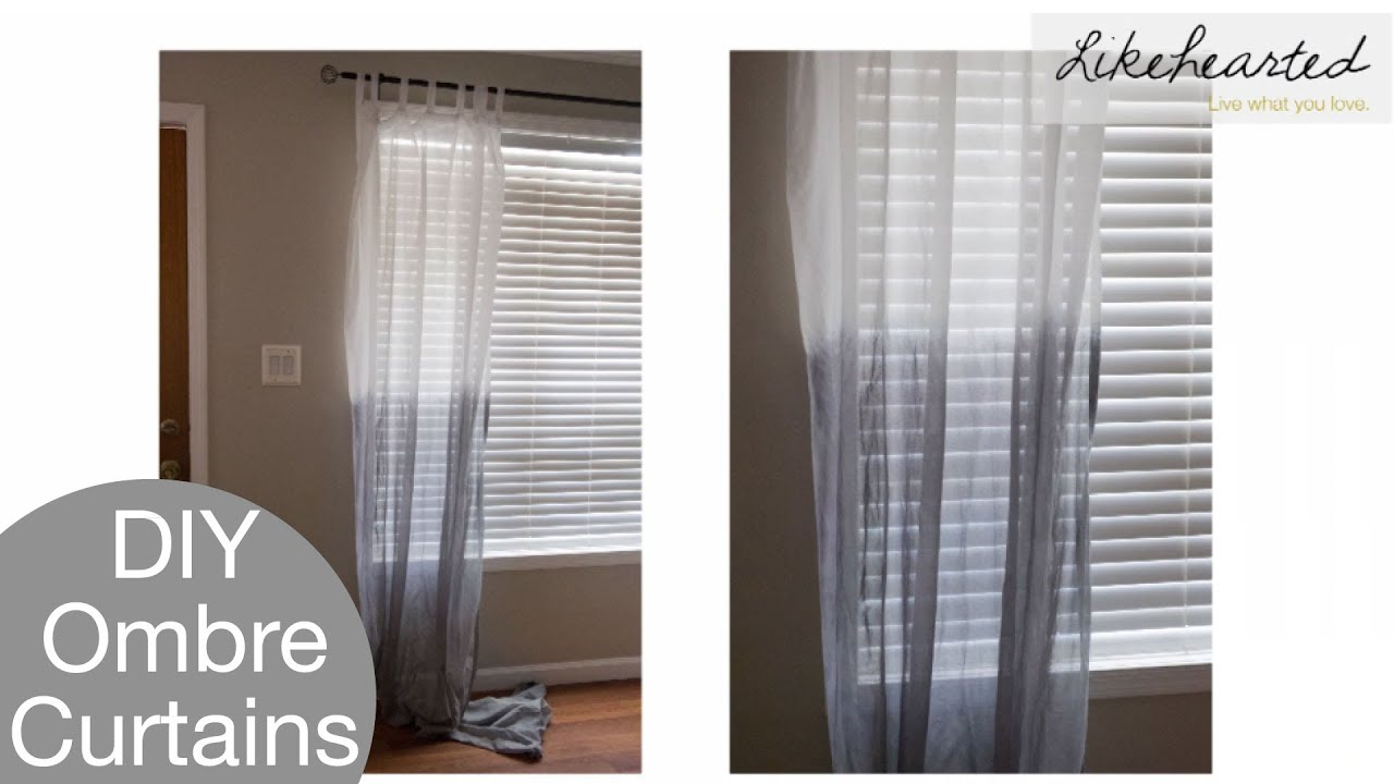 Diy How To Ombre Curtains