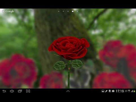 Роза 3D на Андроид