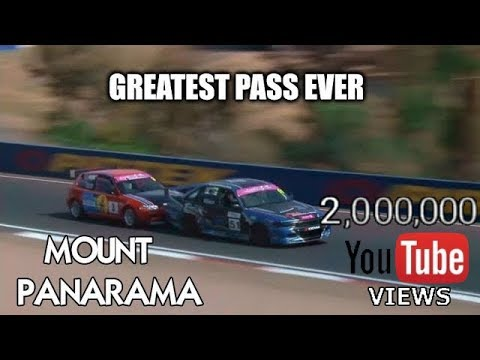 GREATEST MOTORSPORT PASS EVER - Honda Civic vs Holden Commodore VP - Bathurst 12 Hour Support Race