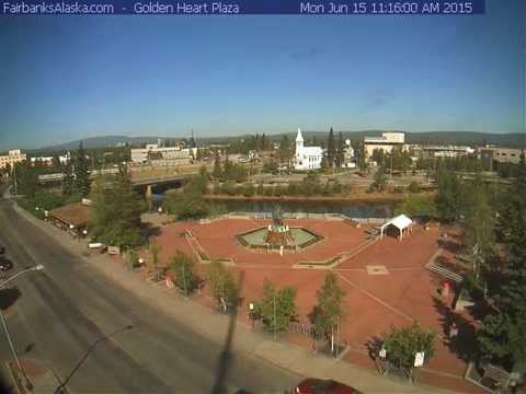 2015 6 15 Fairbanks Summer Solstice Sun Timelapse