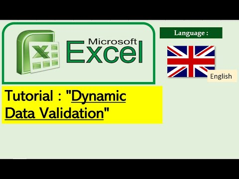 #0001 Tutorial MS Excel :  Dynamic Data Validation (English) thumbnail