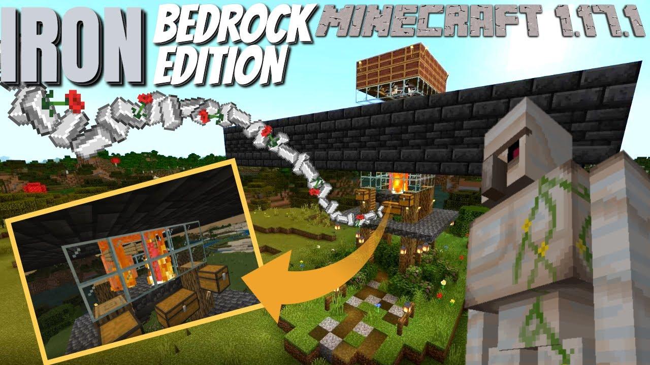 Minecraft Iron Farm FOR BEDROCK   EASY Minecraft Bedrock Iron farm for Minecraft 1.17 and below