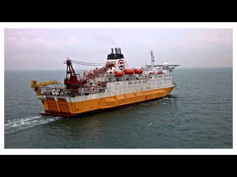 Accommodation & Repair Vessel ARV 1 by aerial photographer T