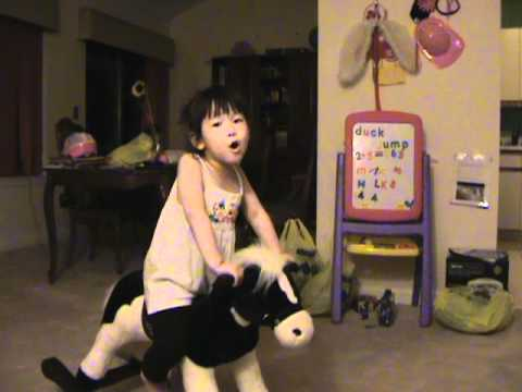 Healing Song from Tangled (Rapunzel) by 4-year-old girl