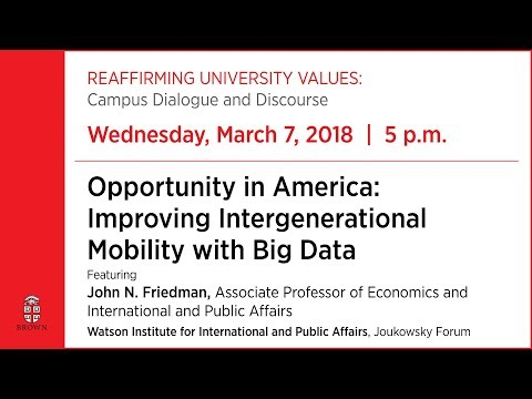 Opportunity in America: Improving Intergenerational Mobility with Big Data