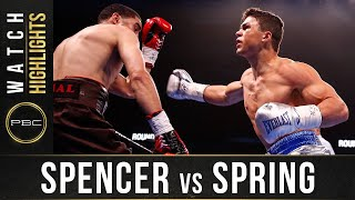 Spencer vs Spring HIGHLIGHTS: January 18, 2020   PBC on FOX