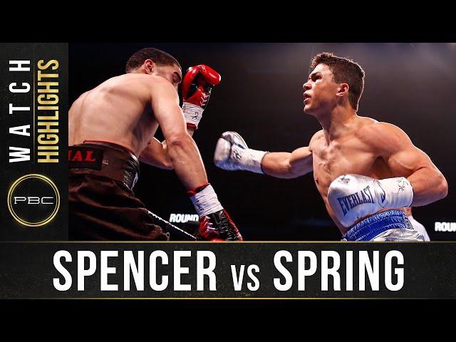 Spencer vs Spring HIGHLIGHTS: January 18, 2020 | PBC on FOX