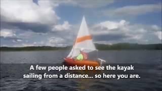 DIY sailing rig v2.0 for Vapor 10 kayak + action shots