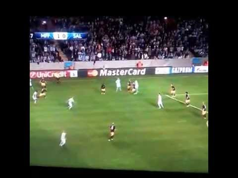 Eriksson amazing goal! - Malmo FF v Red Bull Salzburg