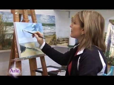 C mo pintar un paisaje de mar y cielo al leo parte 1 - Pintar con acrilicos paso a paso ...