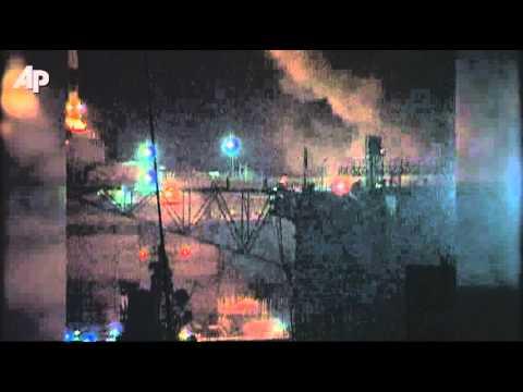 Raw Video: Russia Submarine Fire