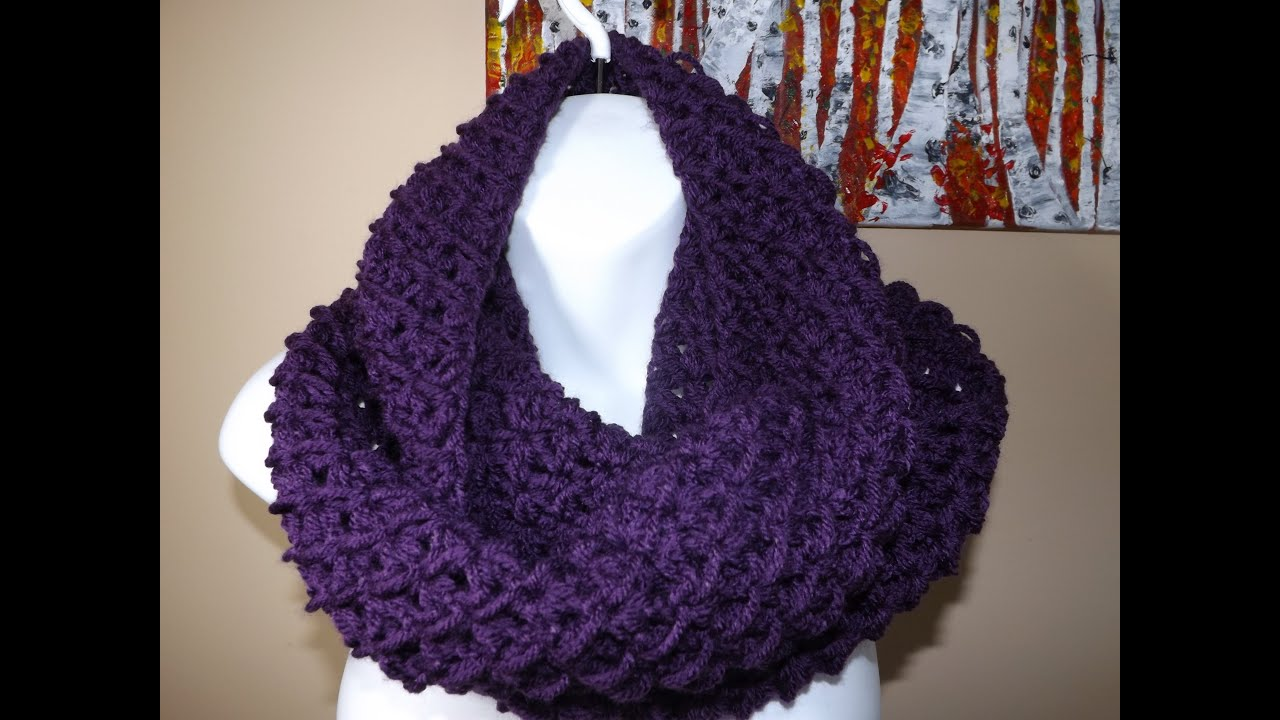 Crochet Circle or Infinity Scarf - with Ruby Stedman - YouTube