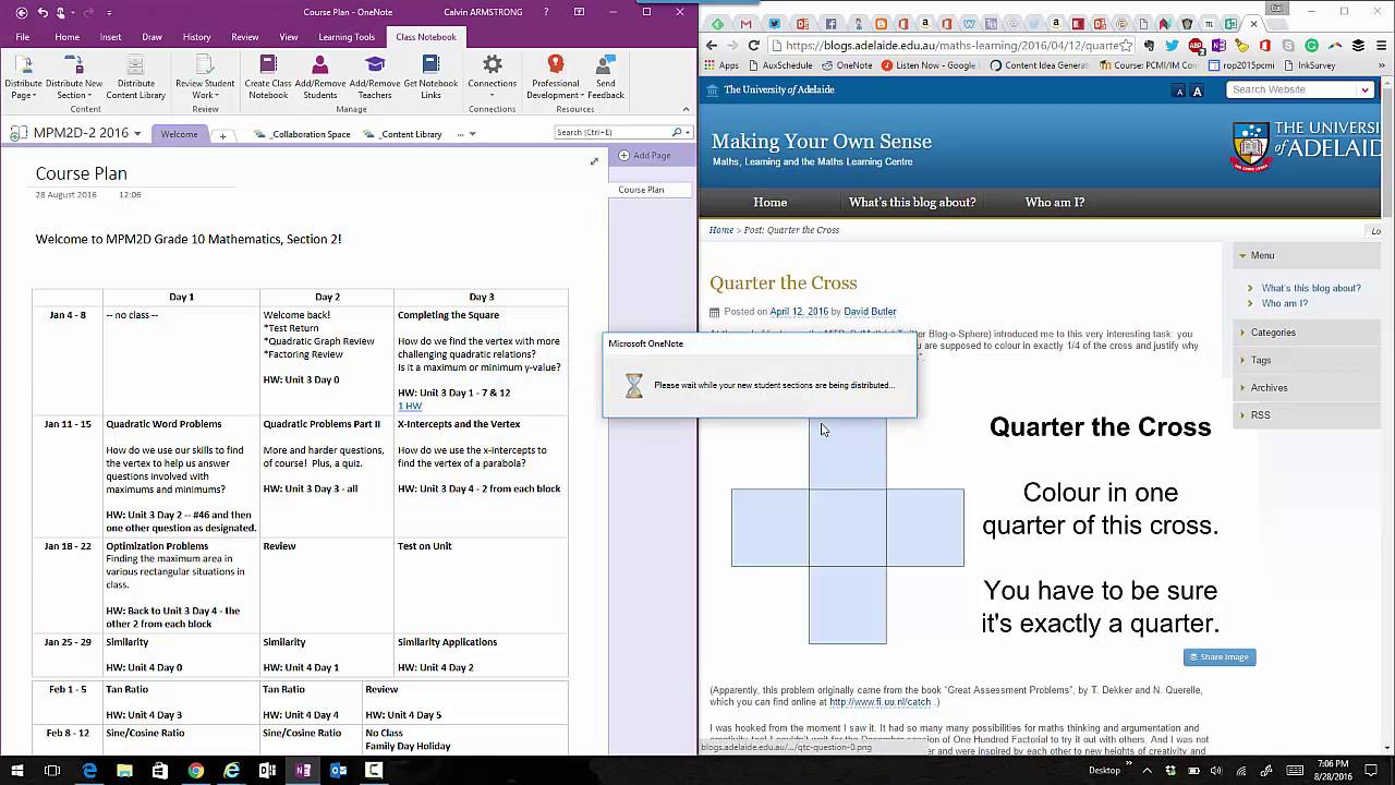 how to add notebook page for students in class onenote
