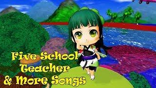 Five School Teacher & More Songs   Kids Songs   Nursery Rhymes   Baby Songs   Children Songs