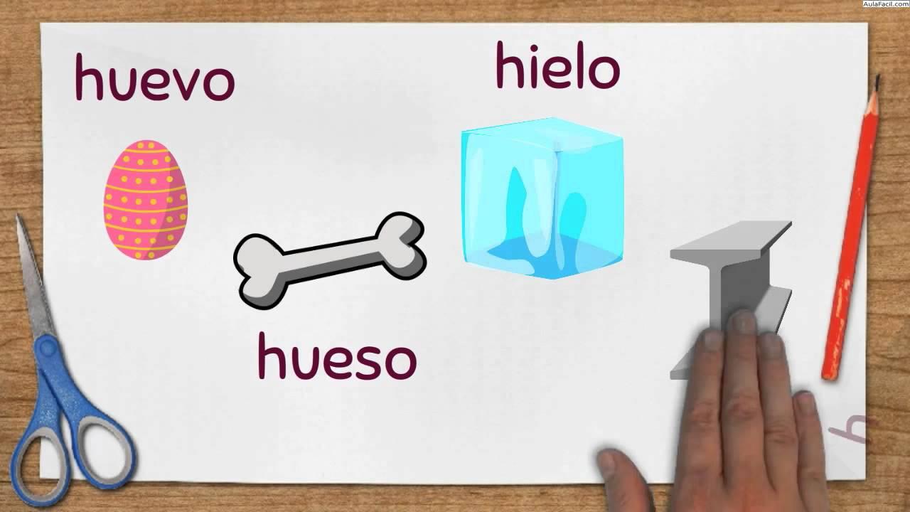 Palabras Que Se Escriben Con H Reglas Ortográficas Palabras Que Se Escriben Con H Lengua Youtube