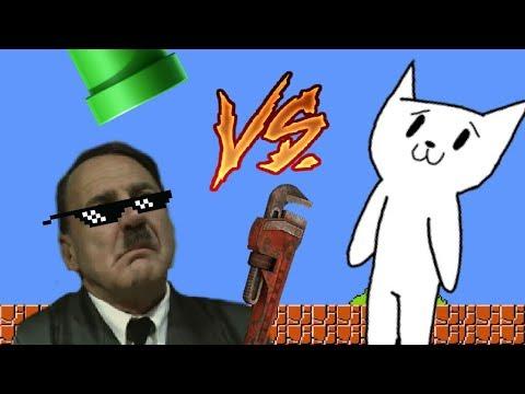 Гитлер играет в Cat Mario