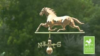 Good Directions 580p Horse Weathervane - Polished Copper