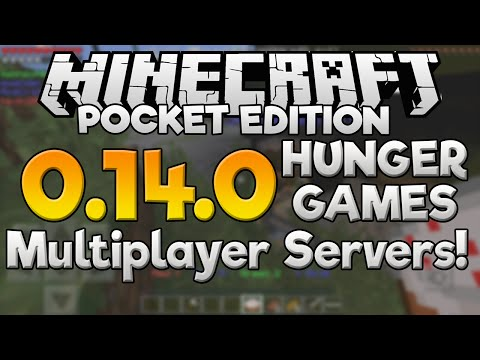 0.14.0 HUNGER GAMES SERVERS!! - Minecraft PE (Pocket Edition)