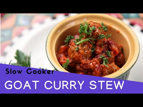 THE BEST Goat Curry Stew- Slow Cooker Recipes- Crock Pot Recipes. How To Cook Indian Lamb Curry.
