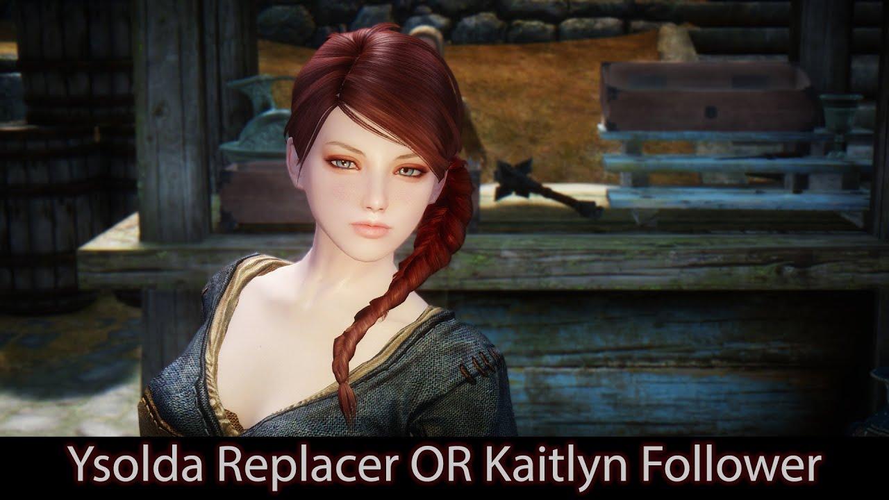 CUTE WHITERUN TRADER - Skyrim Mods - Ysolda Replacer OR Kaitlyn Follower