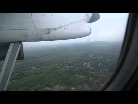 Landing at Bradley International Airport (BDL)
