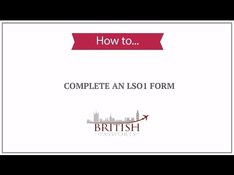 How To Complete An Ls01 Form - Youtube