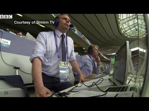 Hевероятная реакция комментатора на гол сборной Исландии