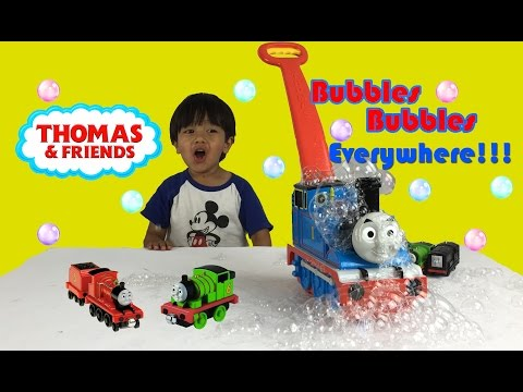 Thumbnail: Thomas GO Bubbles Fun Activity for Kids Bubble Playtime Bubble Machines Thomas and Friends