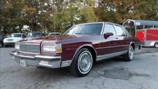 1989 Chevrolet Caprice Classic Brougham Start Up, Exhaust, and In Depth Tour