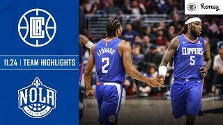 Clippers Improve to 11-1 at STAPLES Center with Win vs. Pelicans | Honey Highlights