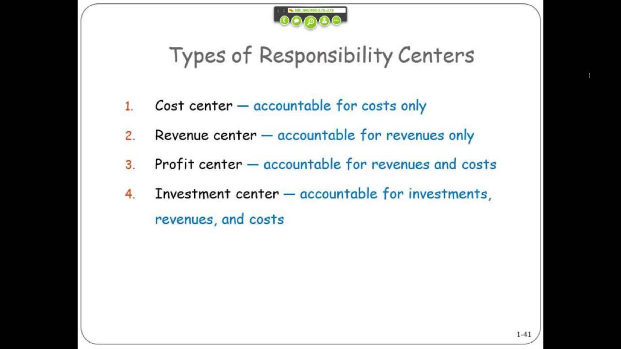 Types Of Responsibility Centers Youtube