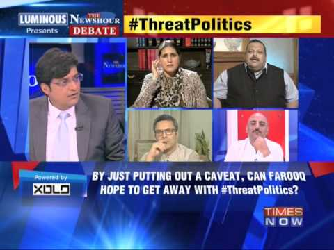 The Newshour Debate: Threat Politics: Did Farooq threaten PDP? - Part 2 (18th April 2014)