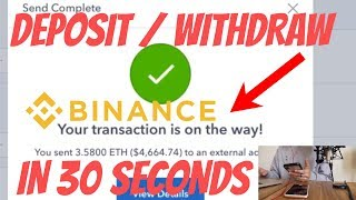 HOW TO FUND BINANCE ACCOUNT IN 30 SECONDS *DEPOSIT/WITHDRAW*