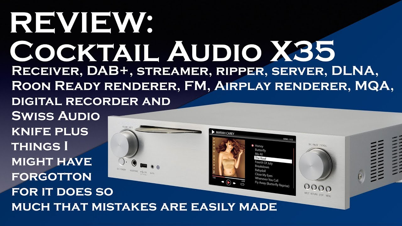 Cocktail audio x35 amp mqa dac streamer and more youtube for Cocktail x35