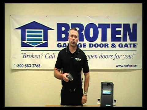 broten garage doorsHow to code a Marantec or Broten Garage Door Keypad  YouTube