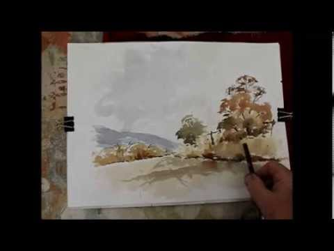How to do a loose watercolour in more detail