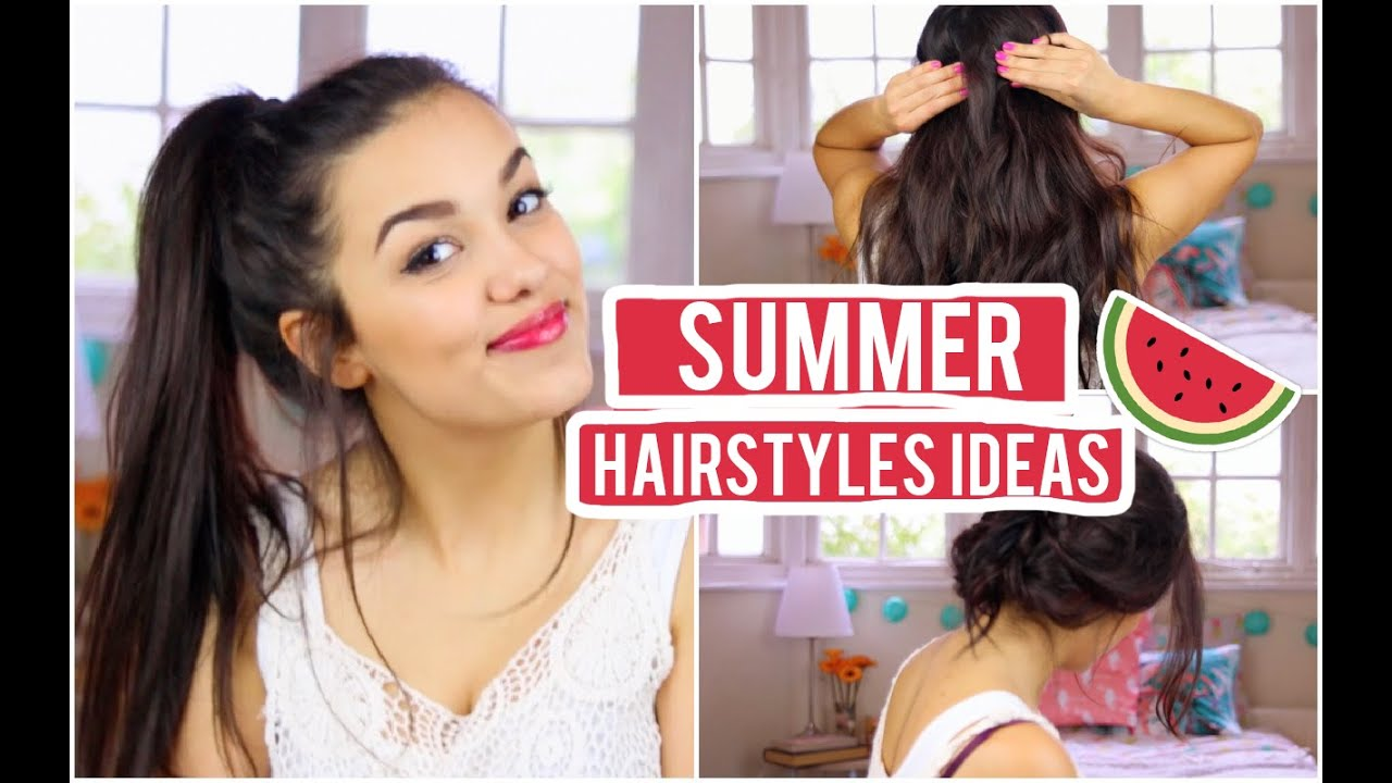 3 Cute Casual Summer Hairstyle Ideas! YouTube