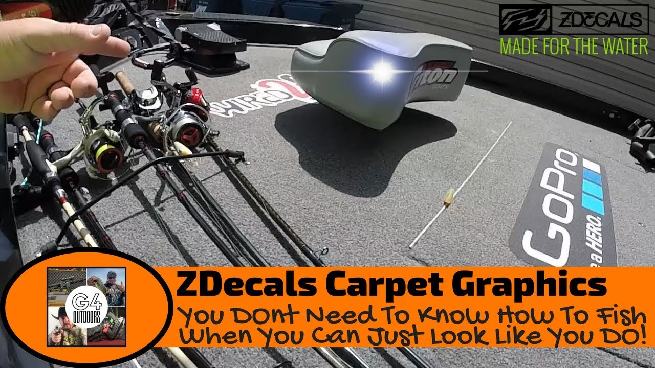 Bass boat carpet decals zdecals boat carpet graphics review