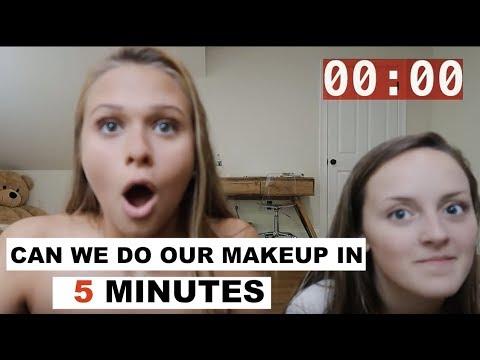 5 MINUTE MAKEUP CHALLENGE w/ my best friend!
