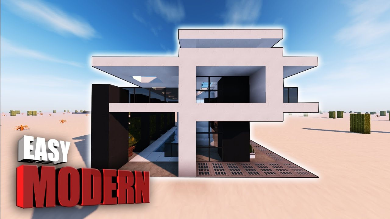 Minecraft How To Make A Small Modern House Tutorial SMALL