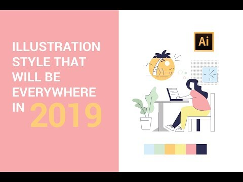 Adobe Illustrator Tutorial - Stay On Top Of The Latest Illustration Trends  (2019)