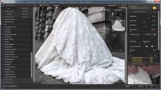 Проработка текстуры свадебного платья