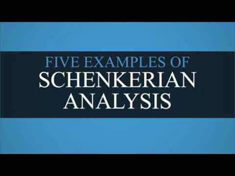 Five Examples of Schenkerian Analysis
