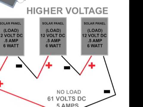 solar panel wiring configurations for diy grid free photovoltaic power For Solar 12 Volt Battery Wiring Diagrams