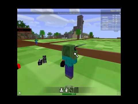 Zombie Minecraft Jogando ROBLOX #1 - ig...