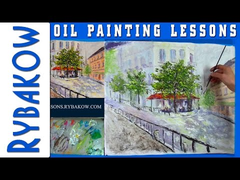 FULL 2h50min OIL Painting lesson!! 2 CAMERAS - Demo by Valery Rybakow
