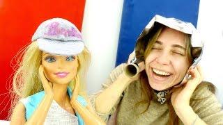Игры одевалки. Кукла Барби и кепка своими руками.