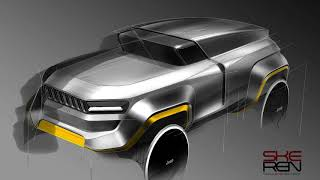 Car design & photoshop rendering(Jeep Design)