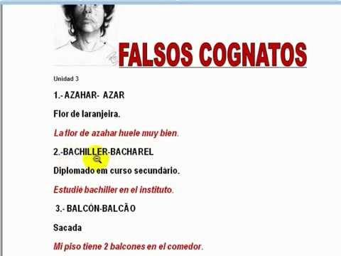 Aula Espanhol 72 Falsos Cognatos Espanhol Portuguêswmv Youtube