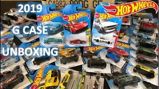 HOT WHEELS - UNBOXING 2019 G CASE - Pagani, JDM, Mustang & More!!